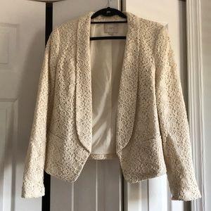 Loft Cream Lace Blazer